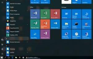 Το μενού των Windows 10